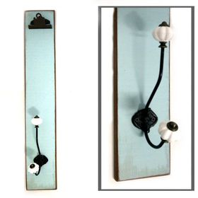 Pamper Hamper - Blue Wooden Plaque With Hooks