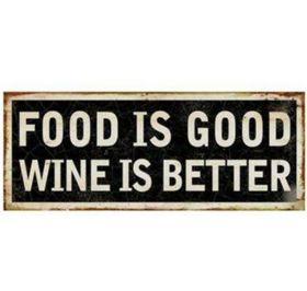 Pamper Hamper - Wine Is Better Metal Plaque