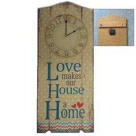 Pamper Hamper - Love Makes Wooden Wall Plaque With Clock
