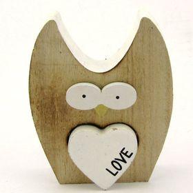 Pamper Hamper - Wooden Owl Decoration