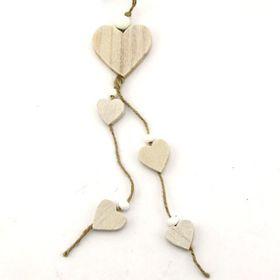 Pamper Hamper - Natural Wooden Hearts Decoration