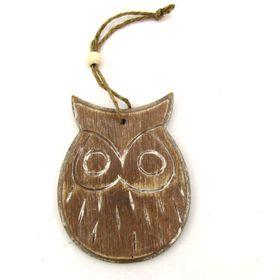 Pamper Hamper - Wooden Hanging Owl