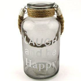 Pamper Hamper - Laugh and Be Happy Glass Jar