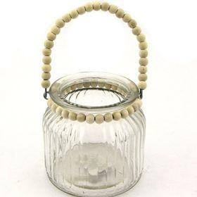 Pamper Hamper - Glass Jar With Beaded Handle