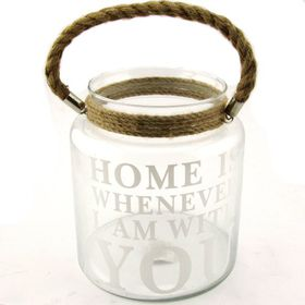 Pamper Hamper - Home Is Where Ever I Am With You Glass Jar
