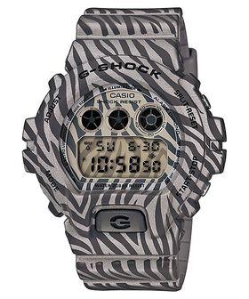 Casio G-Shock Mens DW-6900ZB-8DR Digital Watch in Grey Zebra