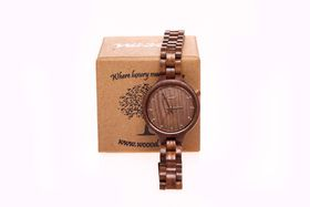 Woood Diamond Rose - Ladies Real Wood Watch WW010