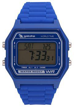 Gotcha Mens Digital 100M-WR Watch in Blue
