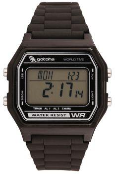 Gotcha Mens Digital 100M-WR Watch in Black