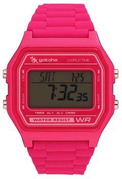 Gotcha Ladies 100m-WR Watch in Pink