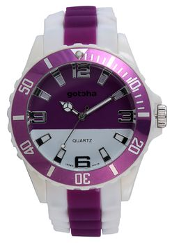 Gotcha Ladies Analogue Watch in Purple and White
