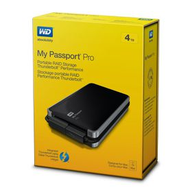 WD My Passport Pro 4TB Thunderbolt External Hard Drive