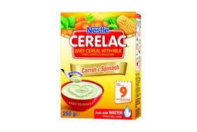 Nestle - CERELAC Baby Cereal Carrot & Spinach 6 Months - 250g