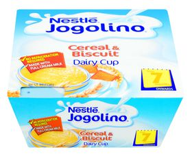 Nestle - JOGOLINO Dairy Snack Baby Cereal and biscuit - 4 x 100g