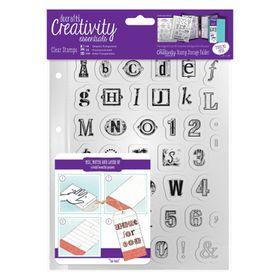 Docrafts Creativity Essentials A5 Clear Stamp Set - Alphabet