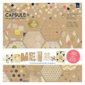 Docrafts Capsule 12 x 12 Paper Pack - Geometric Kraft