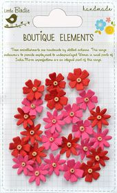 Little Birdie Beaded Micro Florettes - Cerise Pink