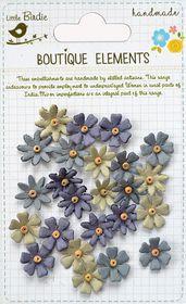 Little Birdie Beaded Micro Florettes - Driftwood Grey