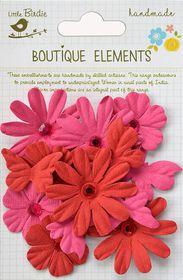 Little Birdie Butterflies N' Blooms - Cerise Pink