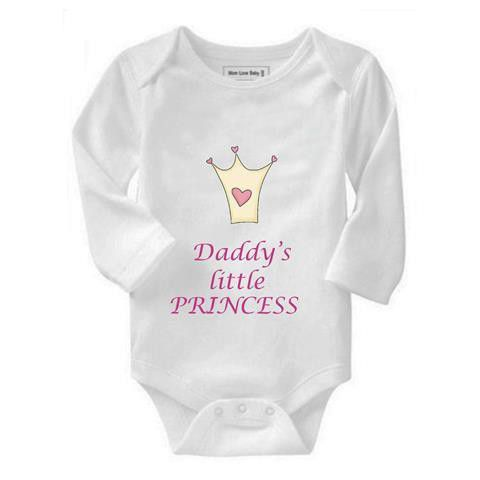 Noveltees Za Noveltees Girls Daddy\'s Little Princess Long Sleeve ...