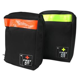 Eco - First Aid Kit Bag - Black & Orange