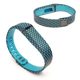 Tuff-Luv Adjustable Strap/Wristband and Clasp for the Fitbit Flex Large - Checker Turquoise