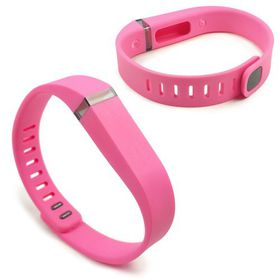 Tuff-Luv Adjustable Strap/Wristband and Clasp for the Fitbit Flex Large - Pink