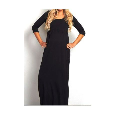 Absolute Maternity Long Sleeved Maxi Dress Black Buy Online In