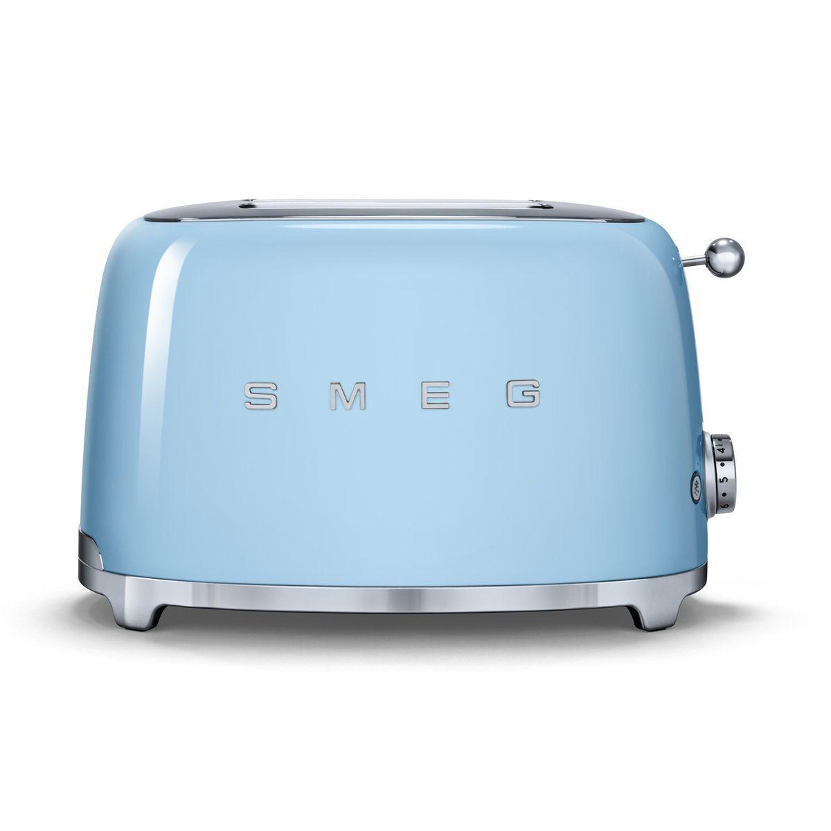 Smeg 2 Slice Toaster Pastel Blue TSF01PB
