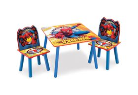 Disney - Marvel Spiderman Table and Chair Set - Blue