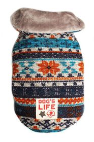 Dog's Life - Chic Vintage Wool Cape Coat - Turquoise