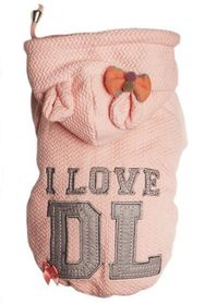 Dog's Life - I Love DL Hoodie - Pink - 2 x Extra Large