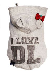 Dog's Life - I Love DL Hoodie - Grey - Small