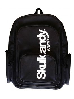 SkullCandy Backpack Gold Thread with Free Set of Skullcandy In Ear Buds