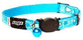 Rogz - FancyCat 11mm Breakaway Collar - Turquoise Fish
