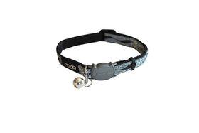Rogz Night Cat Reflective Safeloc Breakaway Collar - Black Paw Design