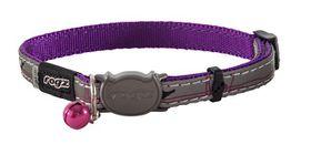 Rogz - NightCat 8mm Collar - Purple Budgies
