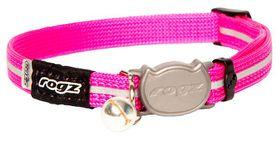 Rogz - 8mm AlleyCat Buckle Collar - Pink
