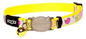 Rogz - Reflecto Cat Reflective Safeloc Breakaway Collar - Dayglo Bird Design