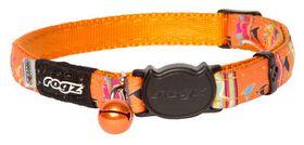 Rogz - NeoCat 11mm Breakaway Collar - Orange Stripes