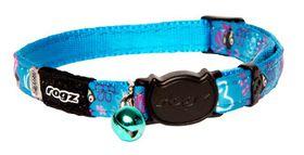 Rogz - NeoCat 11mm Breakaway Collar - Turquoise Stripe