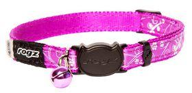 Rogz - SilkyCat 11mm Breakaway Collar - Purple Filigree