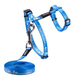 Rogz - KiddyCat 8mm Cat H-Harness and Lead - Royal Bird