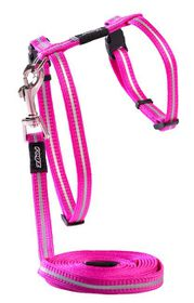 Rogz - 11mm AlleyCat Cat Lead/H-Harness - Pink