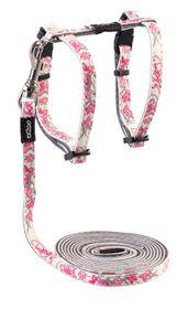 Rogz - 8mm GlowCat Cat Lead/H-Harness - Pink
