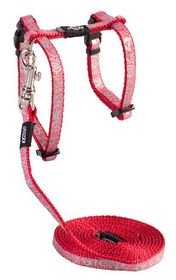 Rogz - SparkleCat 8mm Cat Lead/H-Harness - Red
