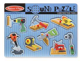 Melissa & Doug Construction Tool Sound Puzzle