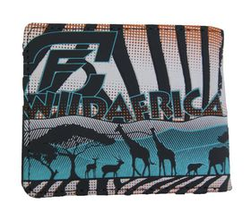 Fino Embossed Wild Africa PU Leather Wallet (SK-FZ13)-COLOUR BLUE