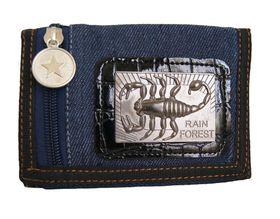 Fino Denim Chain Wallet with Scorpio Logo (SKCH017D) - Blue