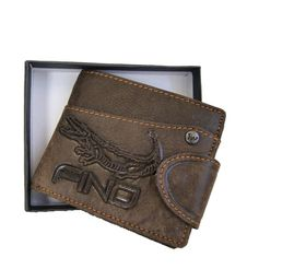 Fino 3D Genuine Leather Wallet (HL509) - Brown